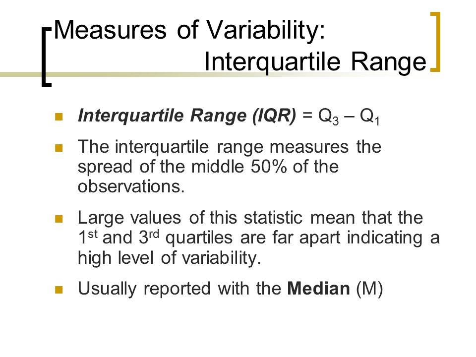 Measures of Variability: IQR​